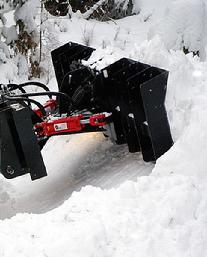 SNOW MOTION� Skid Steer Snow Plows move MASSIVE AMOUNTS of SNOW!